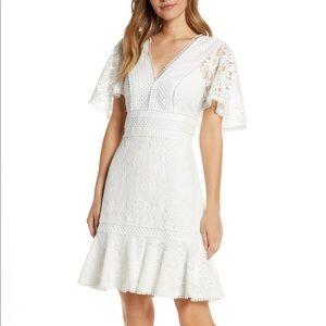 Eliza J Flounce Lace Dress
